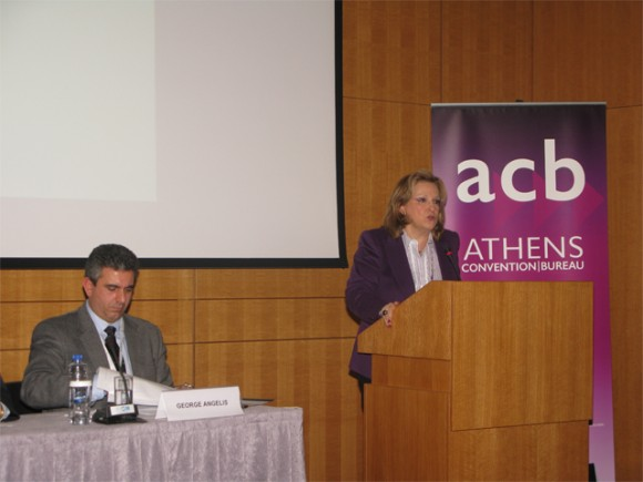 At the workshop, ATEDCo's chairman Katerina Katsabe presented the company's tourism policy framework. Pictured left is ACB's Director George Angelis.