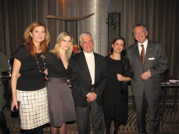 Eva Batzaki (Hilton Athens), Tina Toribaba (Hilton Athens), Nikolaos Andriopoulos (President of Lakitira Hotels), (Doubletree by Hilton-Helona Kos) and Bart van de Winkel (Hilton Athens general manager).