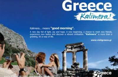 "This year's campaign was based on the existing material but was reshaped and redesigned with the addition of the slogan ""Kalimera"". ""Most importantly, its creation had no affect on GNTO funds,"" the deputy minister, Angela Gerekou, said."