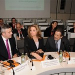 Deputy Culture and Tourism Minister Angela Gerekou during a press conference at the ITB Berlin 2010.
